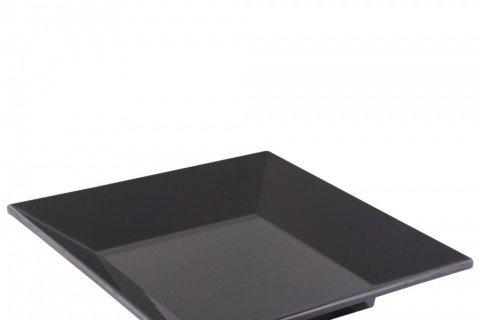 3. Bandeja melamina negra cuadrada 45×45