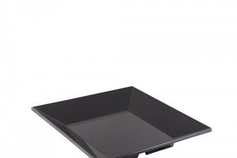 4. Bandeja melamina negra cuadrada 35×35