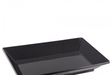 5. Bandeja melamina negra rectangular 45×27
