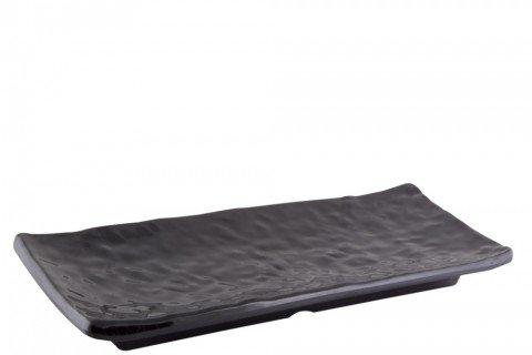 6. Bandeja melamina negra curvas rectangular 35×125