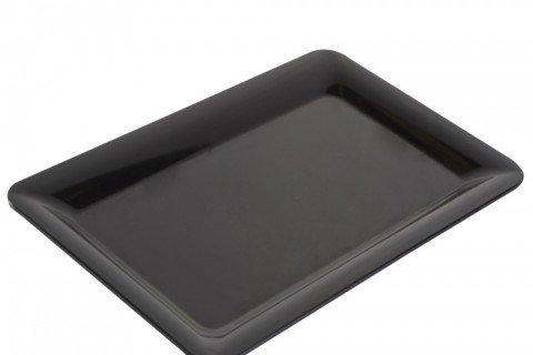 8. Bandeja melamina rectangular negra 50×32