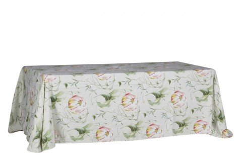 14. Mantel rectangualr estampado flor