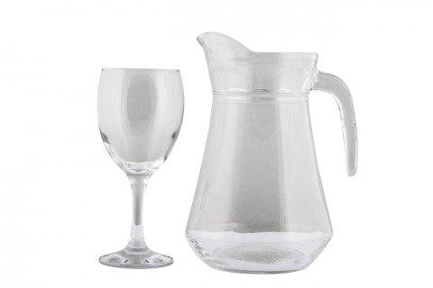 4. Copa cerveza-zumo y jarra cristal