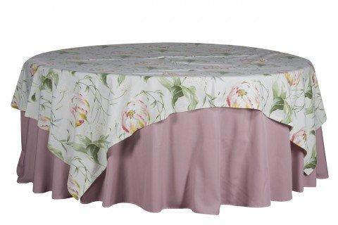 1.1 Mantel rosa cubre estampado flor