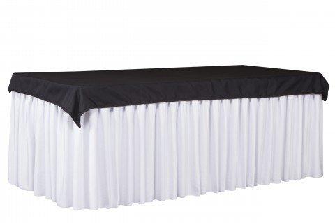 20.1 Cubre mantel negro faldón blanco