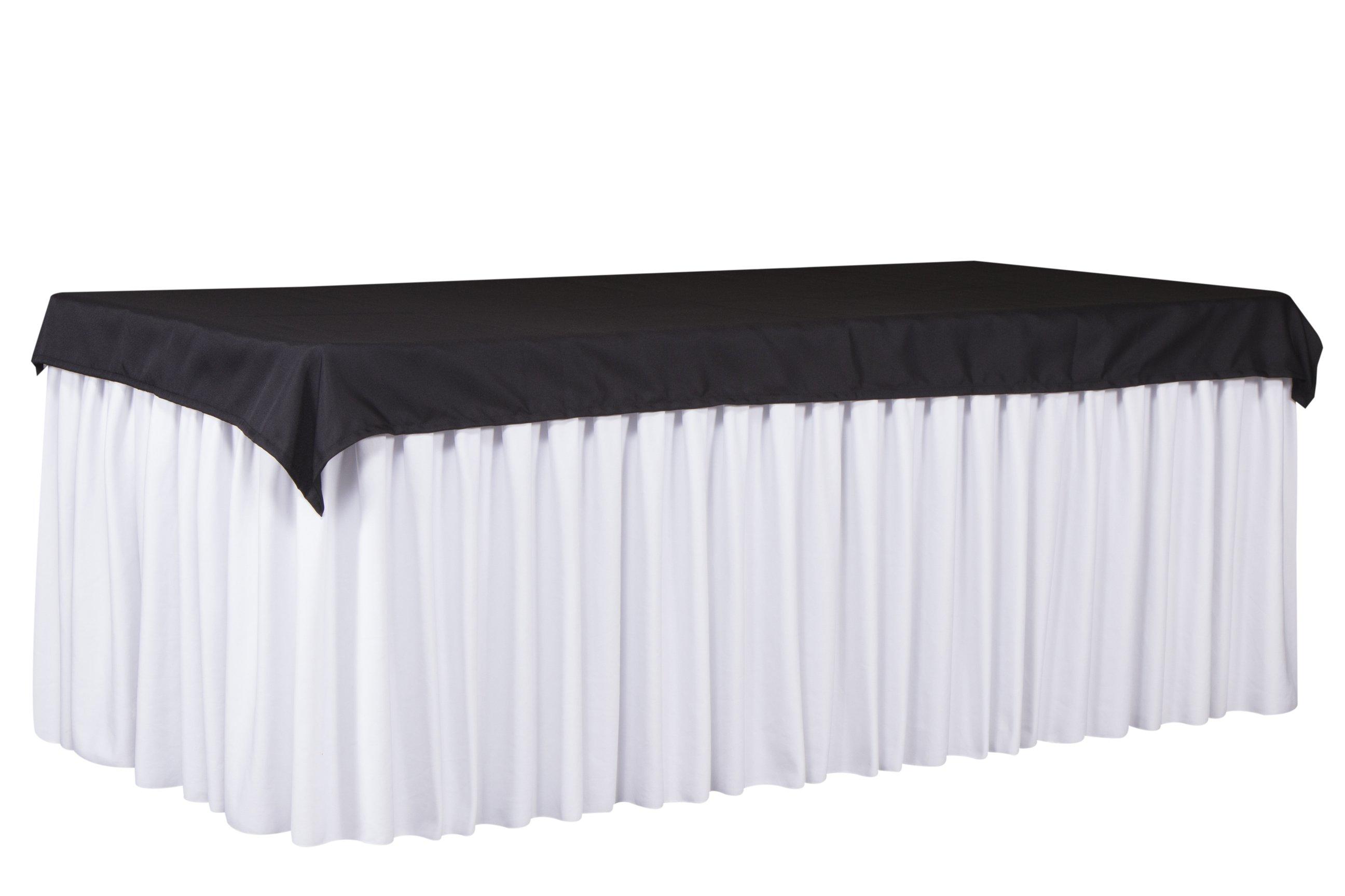 Cubre mantel negro faldon blanco