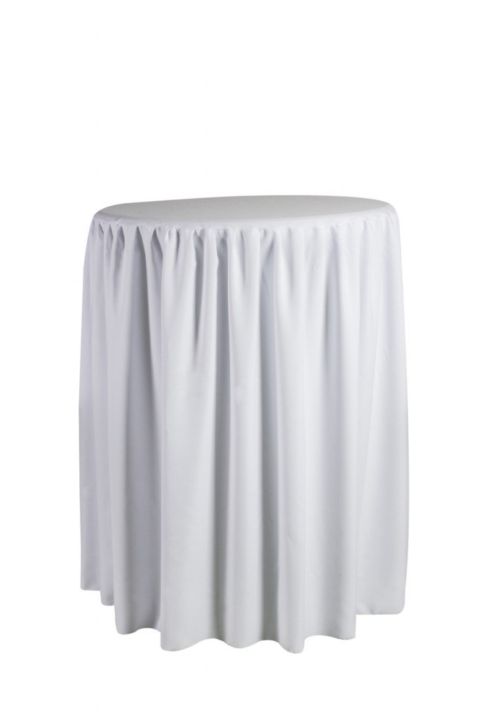 Mesa alta aperitivo capsula blanca