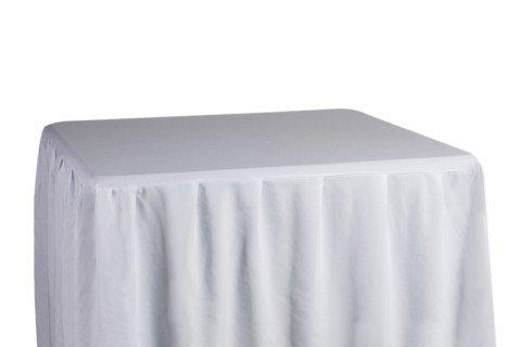 Mesa 90×90 capsula blanca