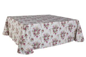 Mantel Estamp.Flor Granate 3.50x3.50