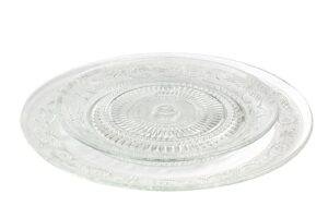 Plato Presentación y Trinchero Cristal Dibujo