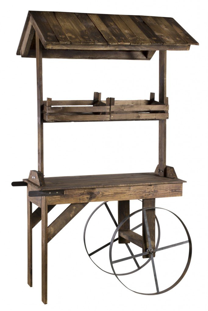 Alquiler Carro vintage madera